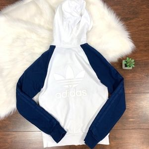 Adidas Originals Zip-Up Logo Hooded Sweater Jacket